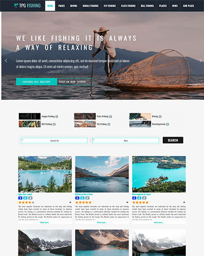 TPG Fishing – Responsive WordPress Fishing theme