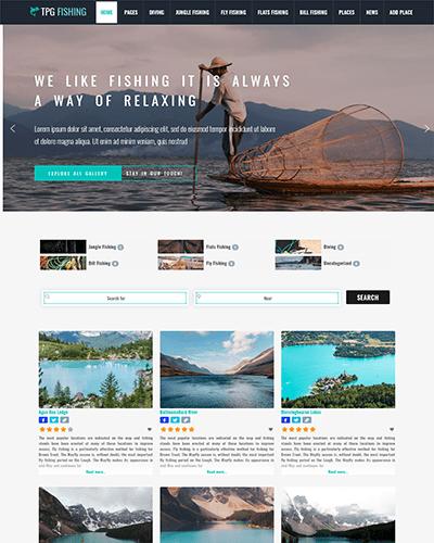 TPG Fishing – Responsive WordPress Fishing theme
