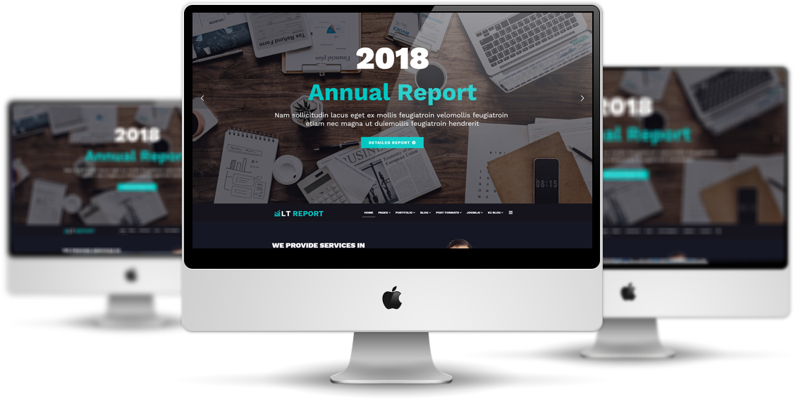 LT Report - Premium Financial Reporting website template