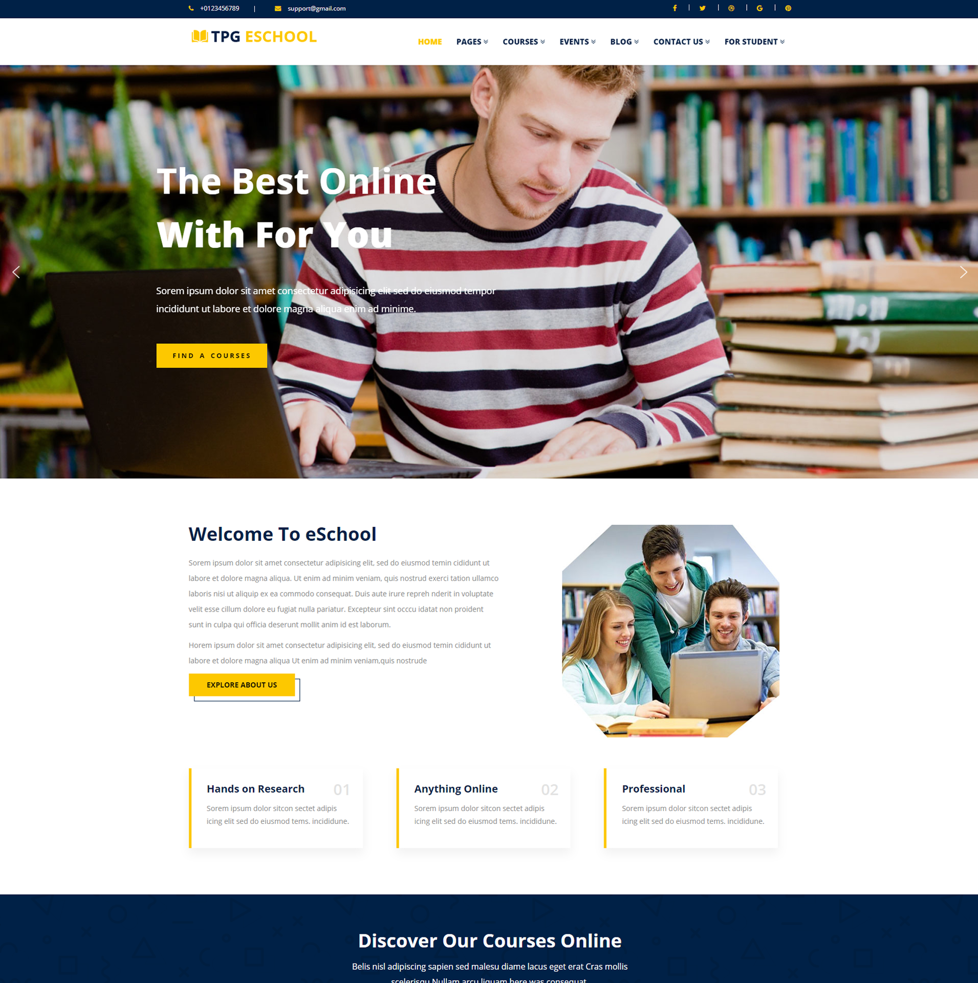 eSchool – Online school WordPress Theme