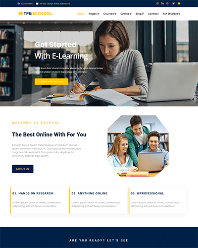 TPG eSchool – Responsive Online school WordPress Theme