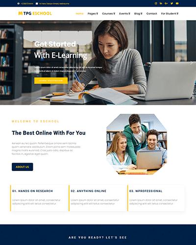 TPG eSchool – Responsive Online school WordPress Theme