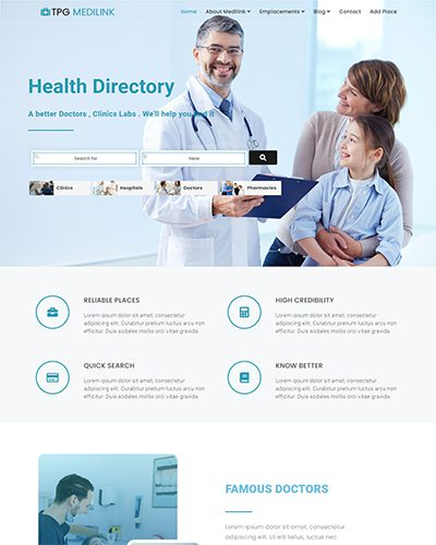 TPG Medilink – Responsive Hospital WordPress theme