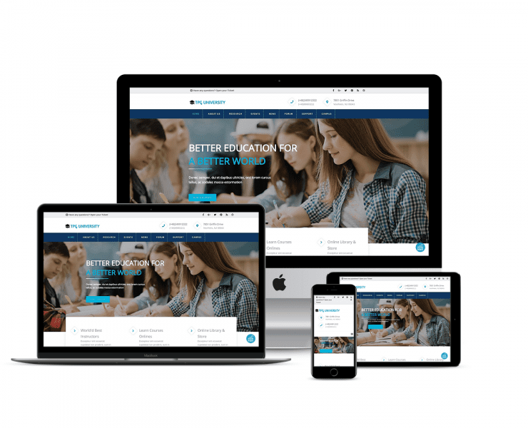 Top Best Free WordPress Themes For Educational Institutions Websites