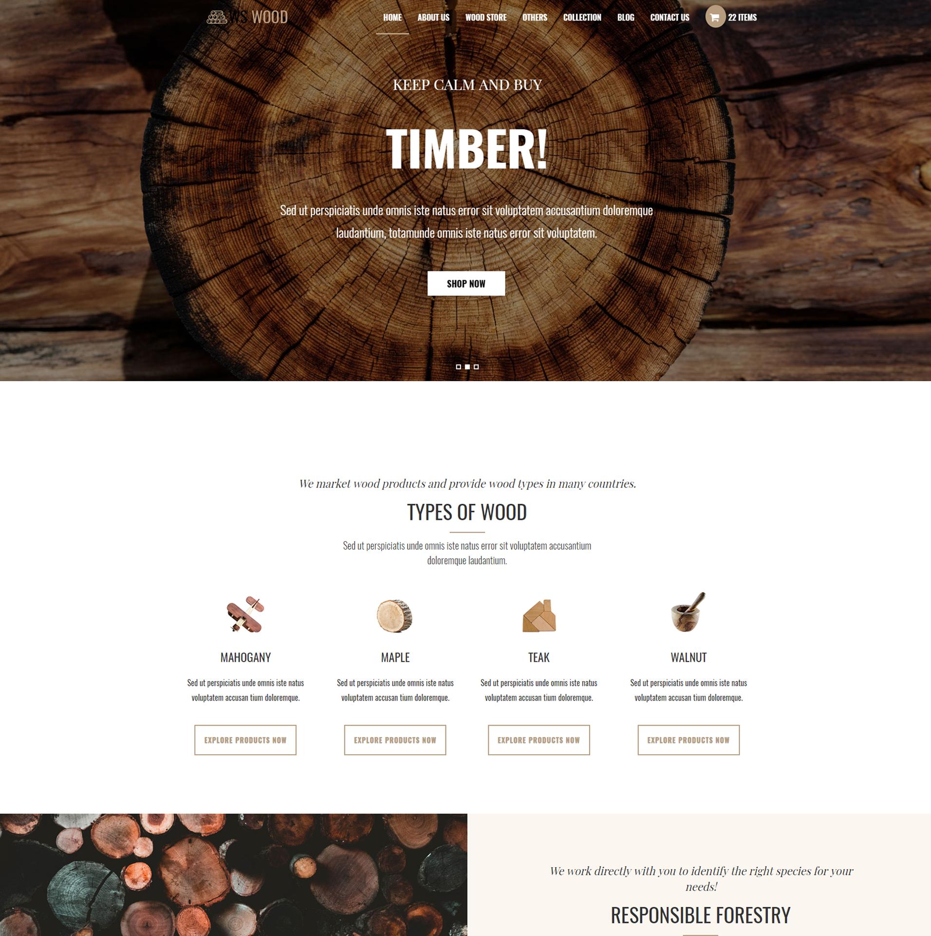 WS Wood – Free Responsive Carpenter Wordpress theme - LTHEME
