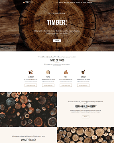 WS Wood – Free Responsive Carpenter WordPress theme