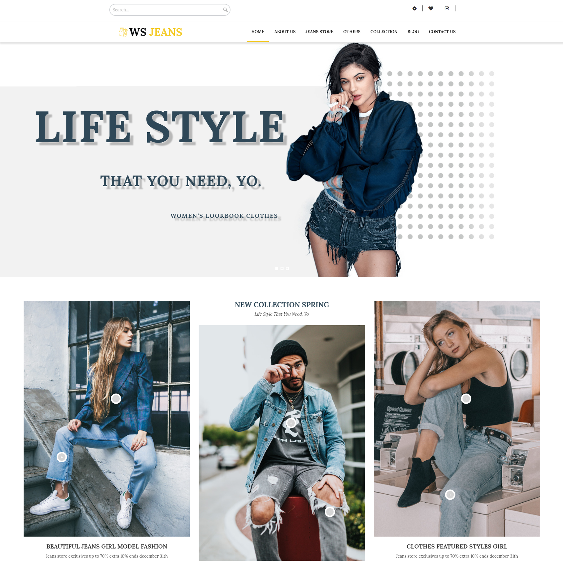 WS Jeans – Clothing wordpress theme