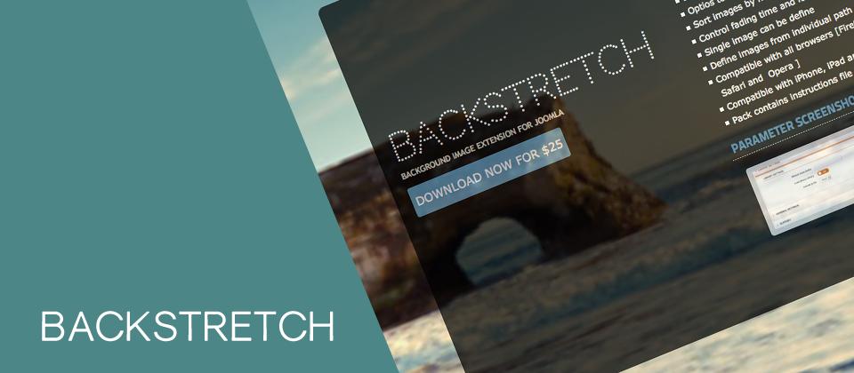 Backstretch joomla image rotator extension