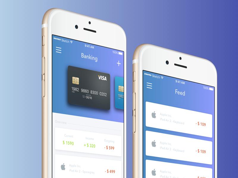 Banking App Ui Design In Psd Responsive Joomla And Wordpress Themes