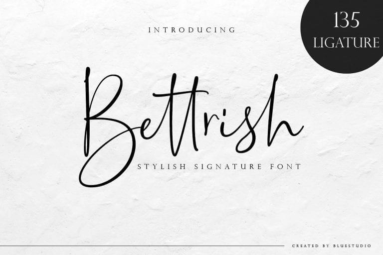 Bettrish Handwritten Signature Font