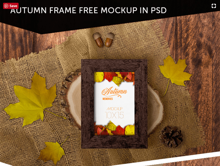 Free Autumn Frame PSD MockUp Template