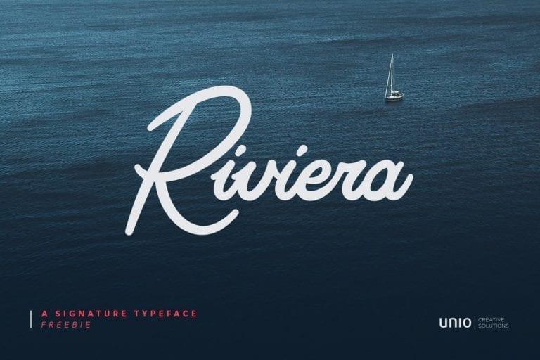 Riviera Handwritten Signature Font