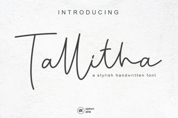 Tallitha Handwritten Script Font