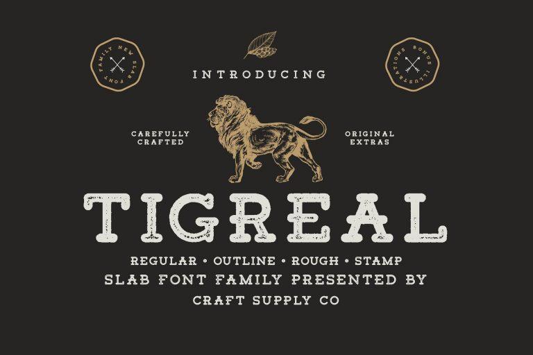 Tigreal Free Slab Serif Typefaces