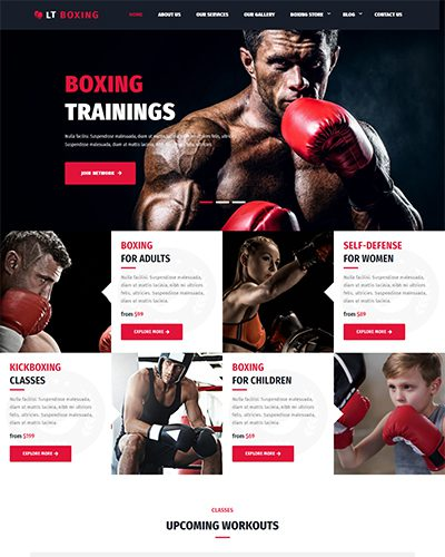 LT Boxing – Free Responsive wordpress sport theme