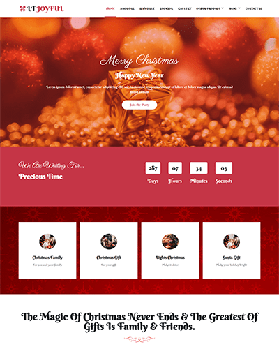 LT Joyful – Free Responsive WordPress christmas theme