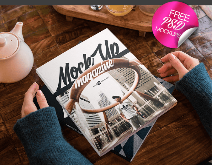 Amazing Magazine Mockup PSD Template