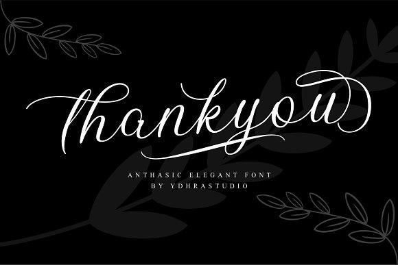 Anthasic Elegant Calligraphy Fonts