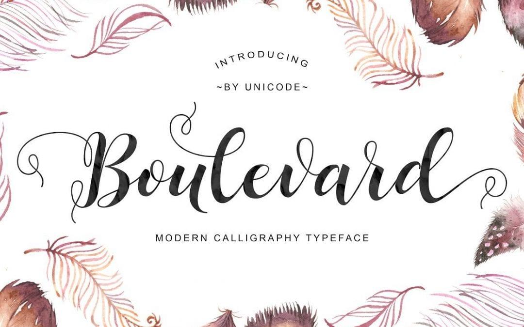 Boulevard Calligraphy Script Font