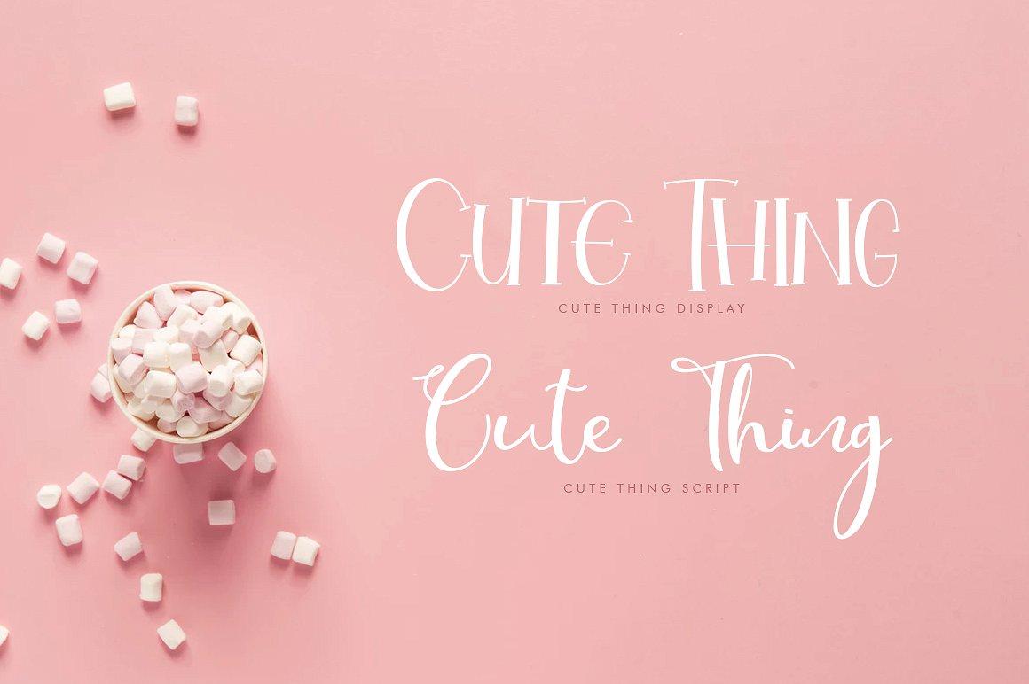 Cute Thing Handwritten Script Font