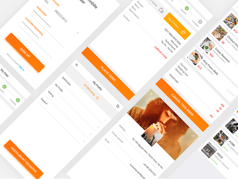 Free Cooking App Design In PSD