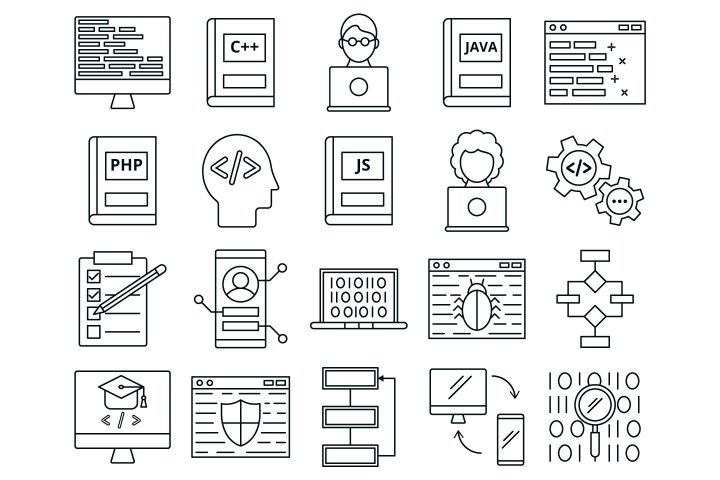 Set Of 20 High-quality Program Icon Vector