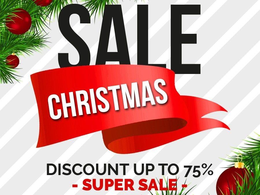 Set Of 6 Christmas Sale Banner