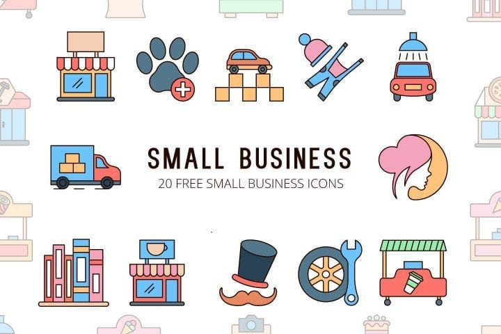 Set Of Free Business Icon Vector