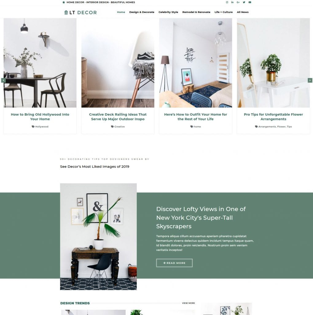 LT Decor WordPress theme