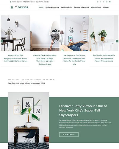 LT Decor – Free Responsive wordpress interior design theme