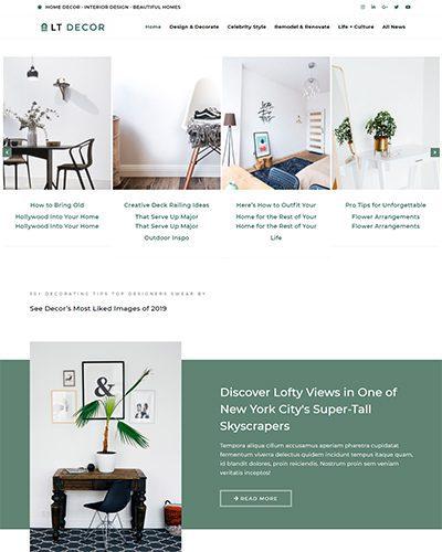 LT Decor – Free Responsive blog joomla template