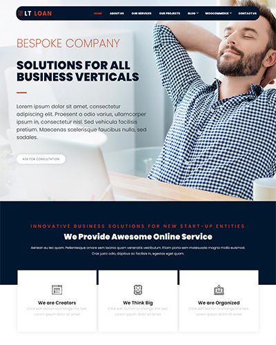 LT Loan – Free Responsive Financial Services WordPress theme