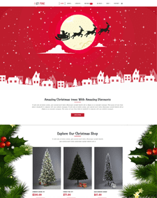 LT Pine – Free Responsive christmas website templates