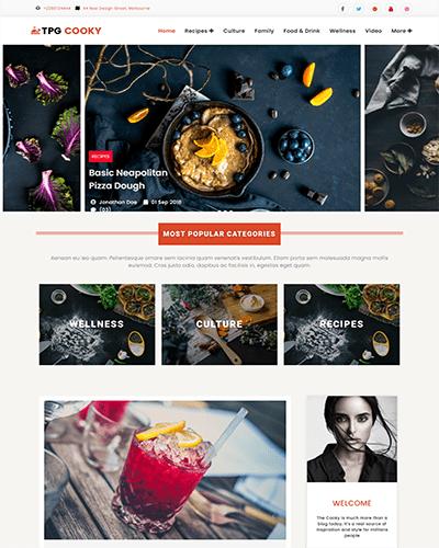 TPG Cooky – Responsive WordPress Food Blog Theme