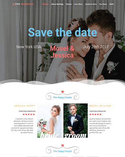 TPG Wedding – Responsive Marriage WordPress Theme