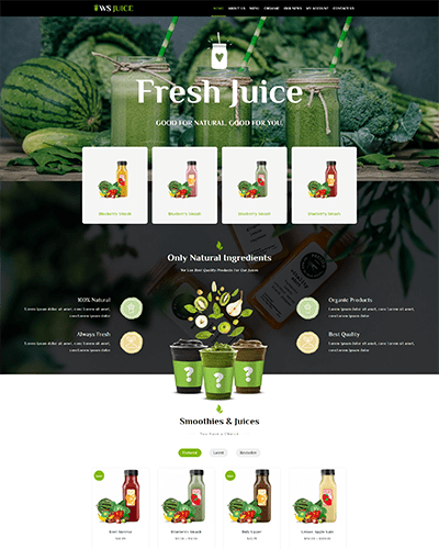 WS Juice – Best Free Smoothie Website Template