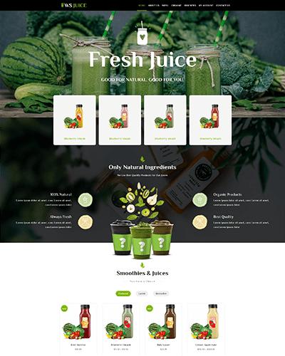WS Juice – Best Free Smoothie Website Template
