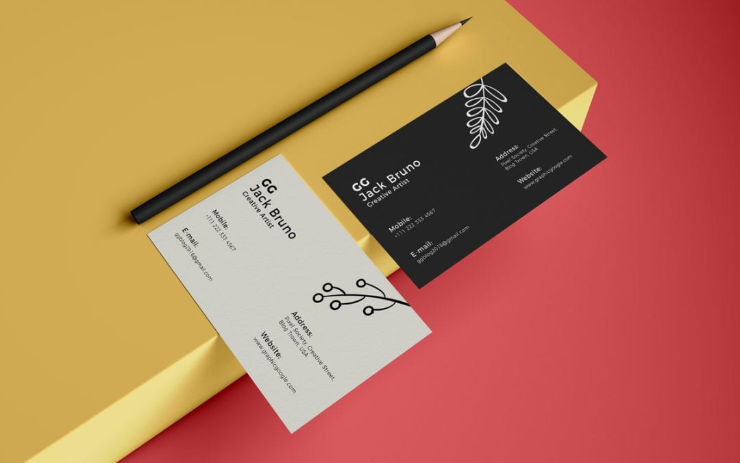 Elegant Business Card MockUp Template
