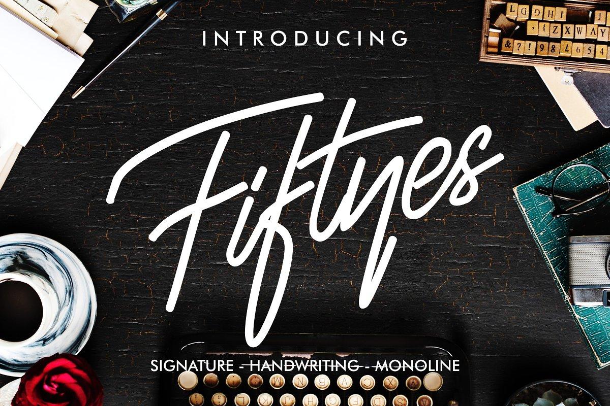Fiftyes Handwritten Signature Font