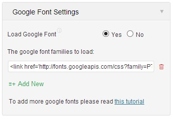 Google Fonts in Unite Revolution Slider