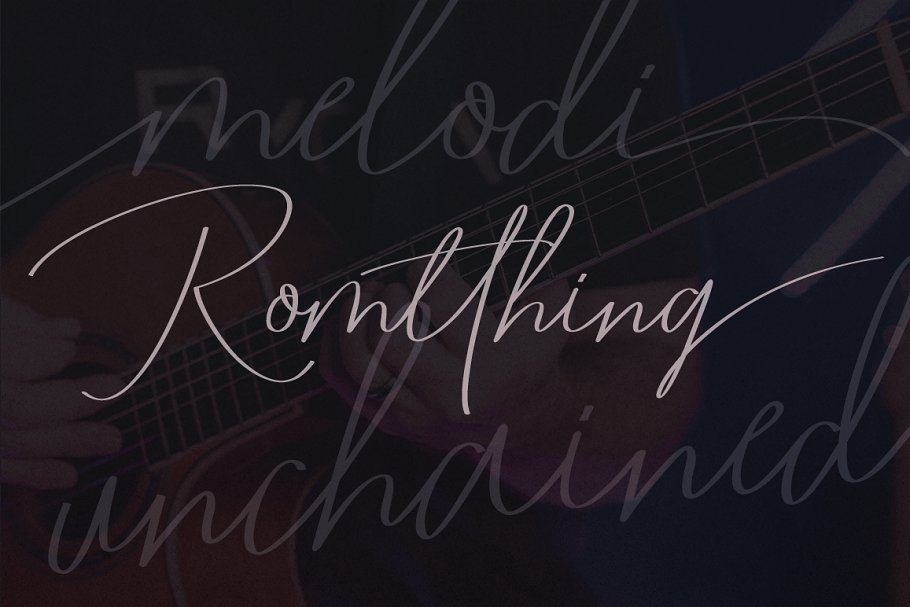 Romtthing Girl Handwritten Signature Font