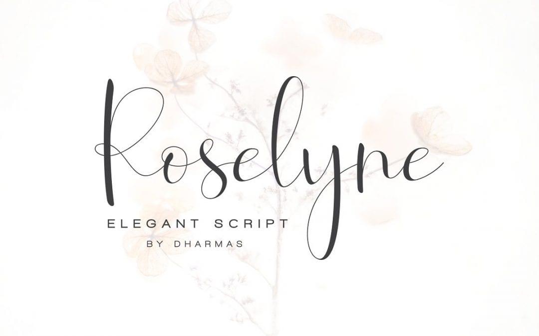 Roselyne Handwritten Calligraphy Font