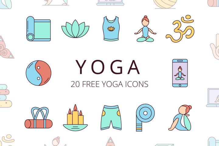 Set Of 20 Yoga Free Icons