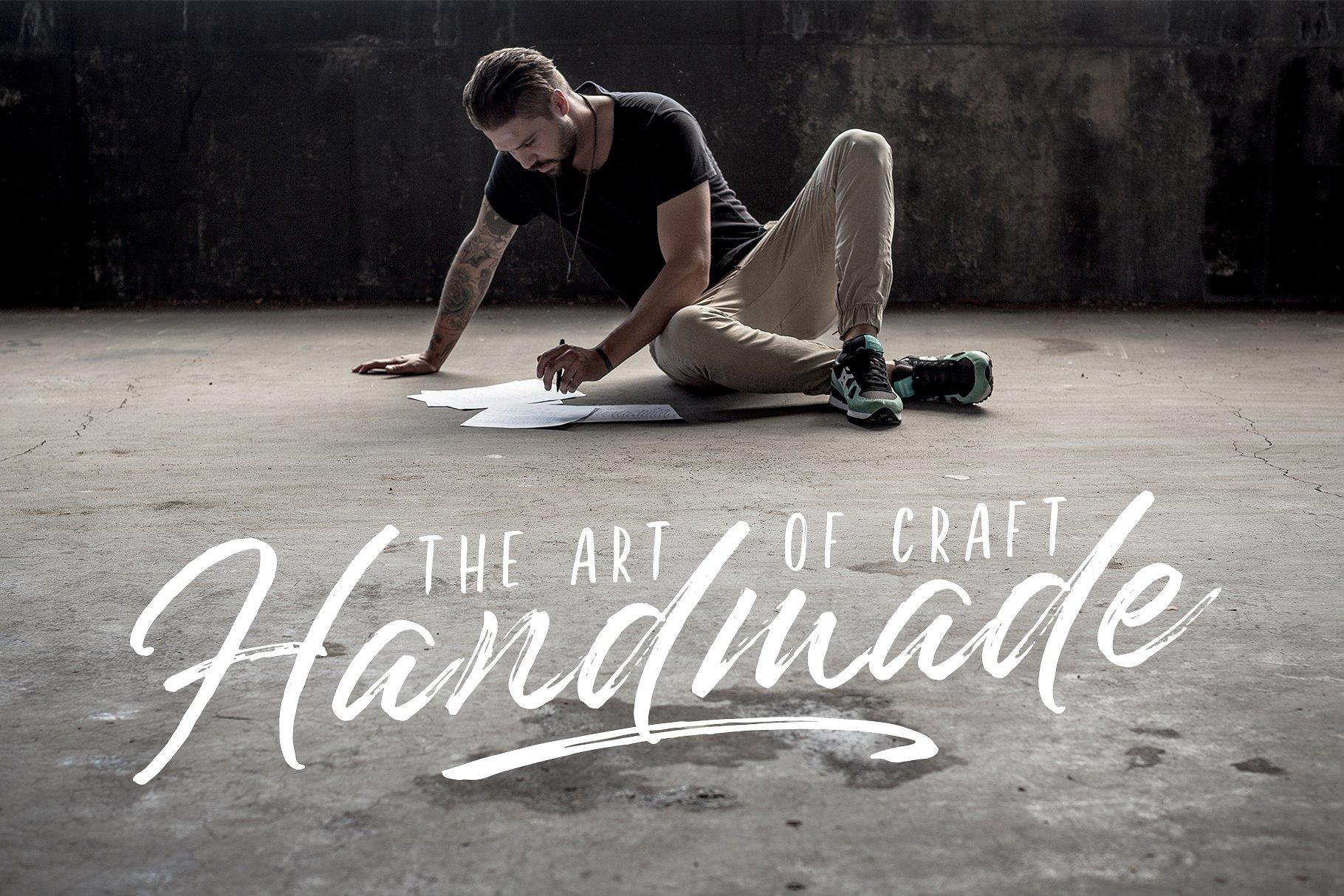 Underland Hand Lettering Brush Font