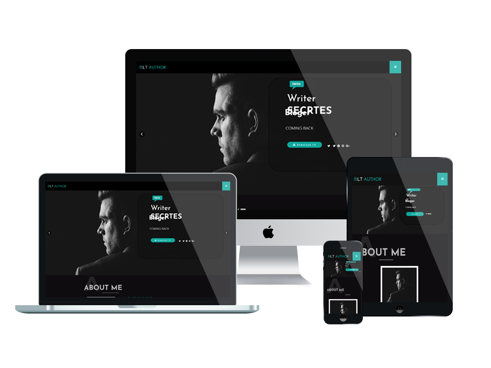 LT Author Onepage – Free Single Page Writer Joomla Template - LTHEME