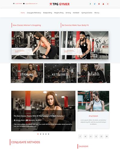 TPG Gymer – Responsive WordPress Fitness theme