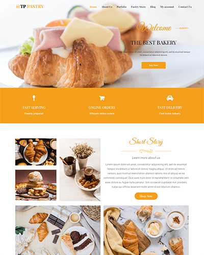 TPG Pastry – Responsive Bakery wordpress theme