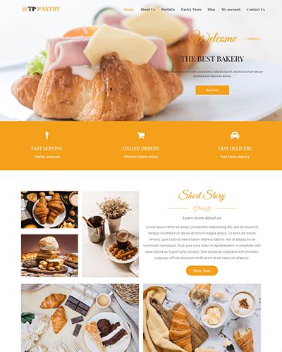 TPG Pastry – Responsive Bakery wordpress theme