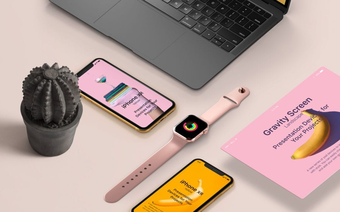 Apple Devices Showcase PSD MockUp