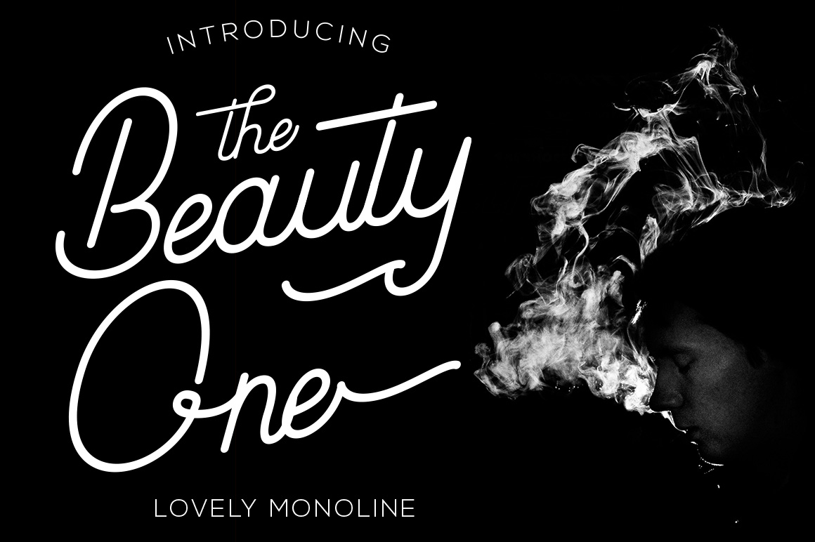 Beauty One Modern Calligraphy Script Font